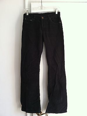 H&M Divided Black Corduroy Flared Boot-Cut 5-pocket Button-Down pants / jeans, S Flared Jeans Cut Hose
