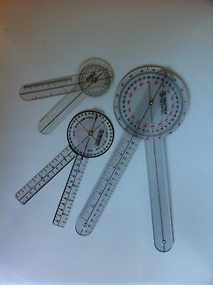 Prestige Medical Protractor Goniometer 3 Piece Set 12 8 6 Lowest Price