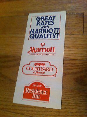Vintage Marriott Hotel Resort Suite Brochure Courtyard By Residence Inn Travel