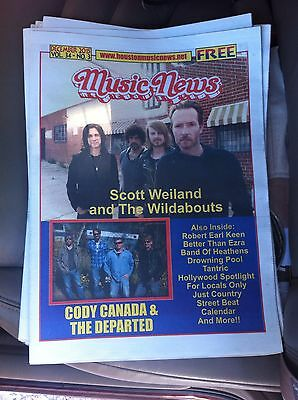 SCOTT WEILAND LAST CONCERT NEWSPAPER STONE TEMPLE PILOTS RARE VR DEC 11 HOUSTON