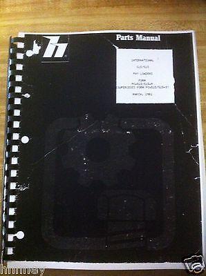 Payloader Hough 510 515 Wheel Loader Parts Manual Book Pc-510515-4 Plain