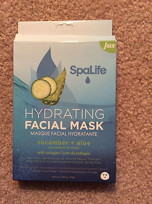 SPALIFE HYDRATING FACIAL MASK WITH CUCUMBER + ALOE  WITH COL
