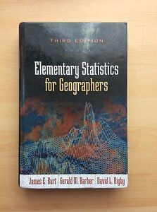 GG254 / GG258 - Elementary Statistics for Geographers