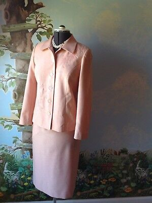 Alfred Dunner Petite Long Sleeve Pink Skirt Suit Embroider Jacket Size 8P ()