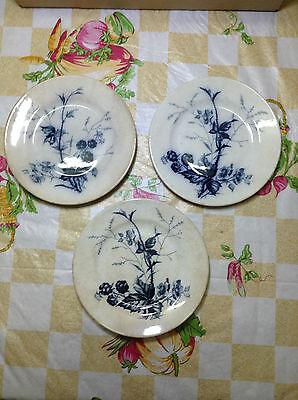 3pcs VINTAGE Villeroy & Boch Mettlach Rubus Plate