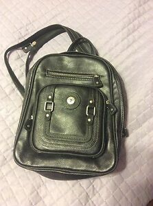 Black leather back pack style purse St. John's Newfoundland image 1