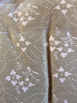 """Home Collections by Raghu Lined Emily's Floral Oat Tiers - 36"""""""
