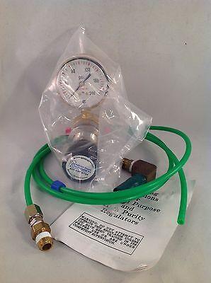 Regler Middlesex Gase Tech 310il-100nv Usg 0-200 Psi W / Rohr & Verbindung