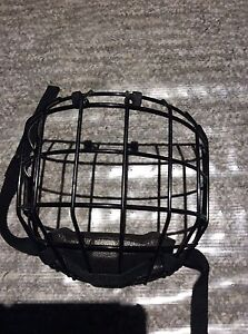 Kids hockey helmet cage