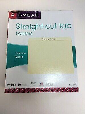 Smead File Folders Straight-cut Tab Letter Size Manila 100box 10300