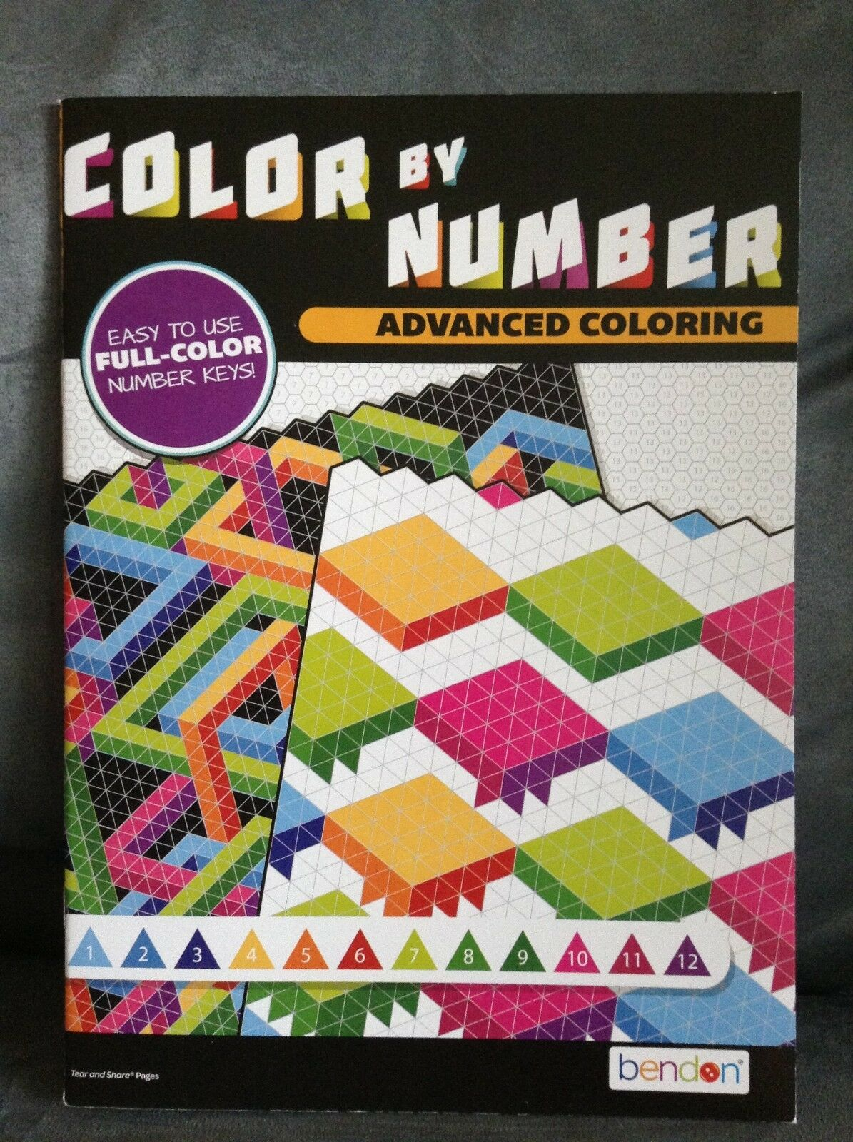 BENDON ADVANCED COLOR BY NUMBER 14 PAGE WITH ANSWERS - NEW