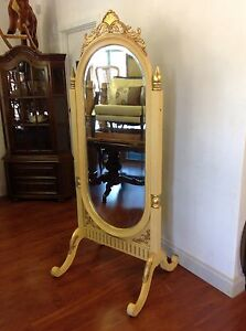 French Style Large Swirl Mirror On Stand Mulgrave Monash Area Preview