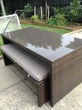 Outdoor Table and Bench seats - seats 6 Merewether Heights Newcastle Area Preview