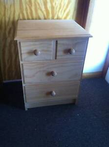raw pine bedside drawer Port Sorell Latrobe Area Preview