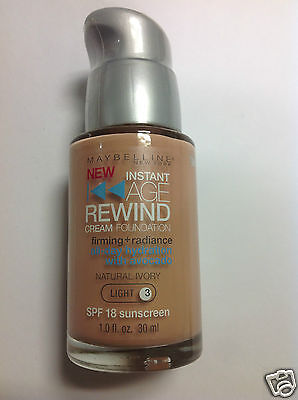 Maybelline Age Rewind Foundation Natural Ivory (Light 3) Silver Pump (Foundation Silver Light)