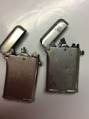 X2 THOREN'S PETROL LIGHTERS COLLECTABLE VINTAGE