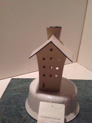 Johnston Fischer  5.75 in Porcelain House Tealight Holder