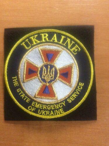 UKRAINE NATIONAL PATCH FIRE FIREFIGHTER RESCUE EMERGENCY - ORIGINAL!