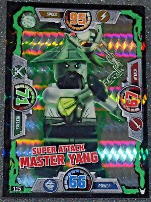 LEGO NINJAGO series 3 Trading Card Special 115 SUPER ATTACK MASTER YANG