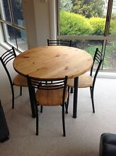Round Pine Dining Table (4-seater) - SOLD Gordon Tuggeranong Preview