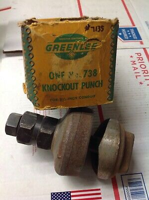Greenlee Knockout Punch No. 738 For 2 12 Conduit Sz Lightly Used 7135