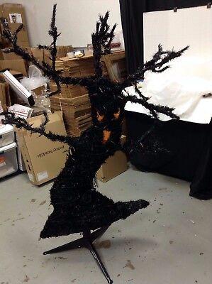 Pre Halloween (Grandinroad Halloween Menacing Face Tree Creepy Scary Pre Lit Orange Lights 4.5')