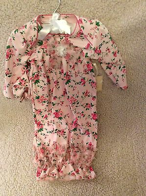 Toddler Cap And Gown (NEW Laura Ashley London Pima Cotton Floral Gown with  Bow & Cap Size)