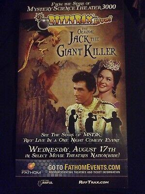 RARE Rifftrax Live! Jack The Giant Killer Movie Lobby Card Fathom August 17th