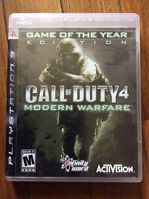 Call of Duty 4: Modern Warfare - Game of the Year (Sony Playstation 3 2007) Used