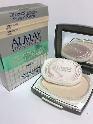 ALMAY HYPO-ALLERGENIC Oil Control Pressed POWDER Oily Skin FRAGRANCE FREE -