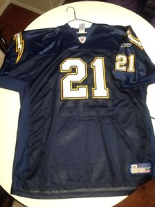 Football Chargers jersey #21 Tomlinsons ,size 56, $20