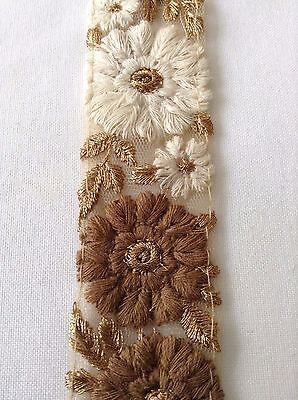 Lace Trim Vintage Embroidered Sewing Craft Applique Wedding Dress Ribbon Fabric