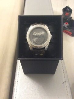 Marc Ecko Men's  The Daily Black Leather Cuff Watch Cecil Hills Liverpool Area Preview