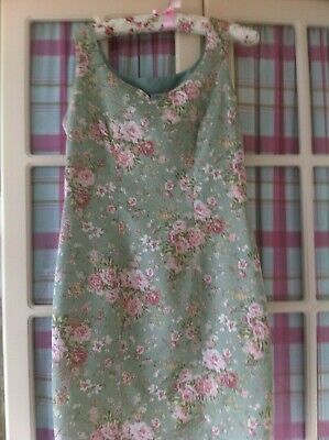 Pretty Vintage Laura Ashley Floral Knee Length Dress Size Small 14