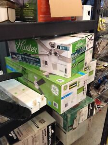 Hunter LED ceiling fans at HFH restore