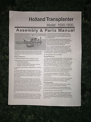 A New Parts Catalog For A Holland 1500 1600 Transplanter Setters