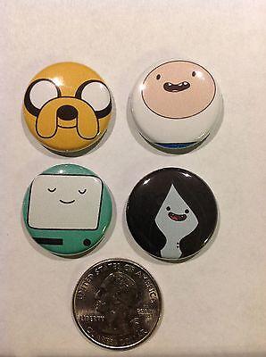 Adventure Time Pin Set Button Cartoon Finn Jake Marceline Bmo