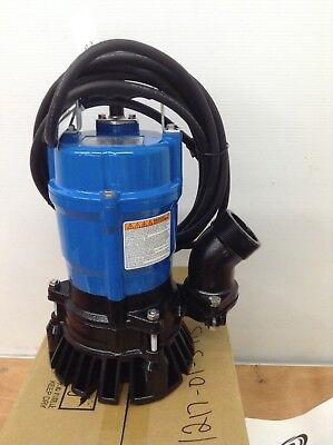 2 Pck Tsurumi Hs2.4s Submersible Sump Pumps Trash Water Sewage Portable Basement