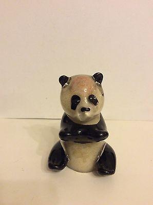 Langham Glass:Handmade Glass Panda Bear Figure,Glass Panda Bear Paperweight