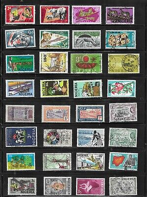 HICK GIRL- BEAUTIFUL USED NIGERIA STAMPS   VARIOUS ISSUES    T154