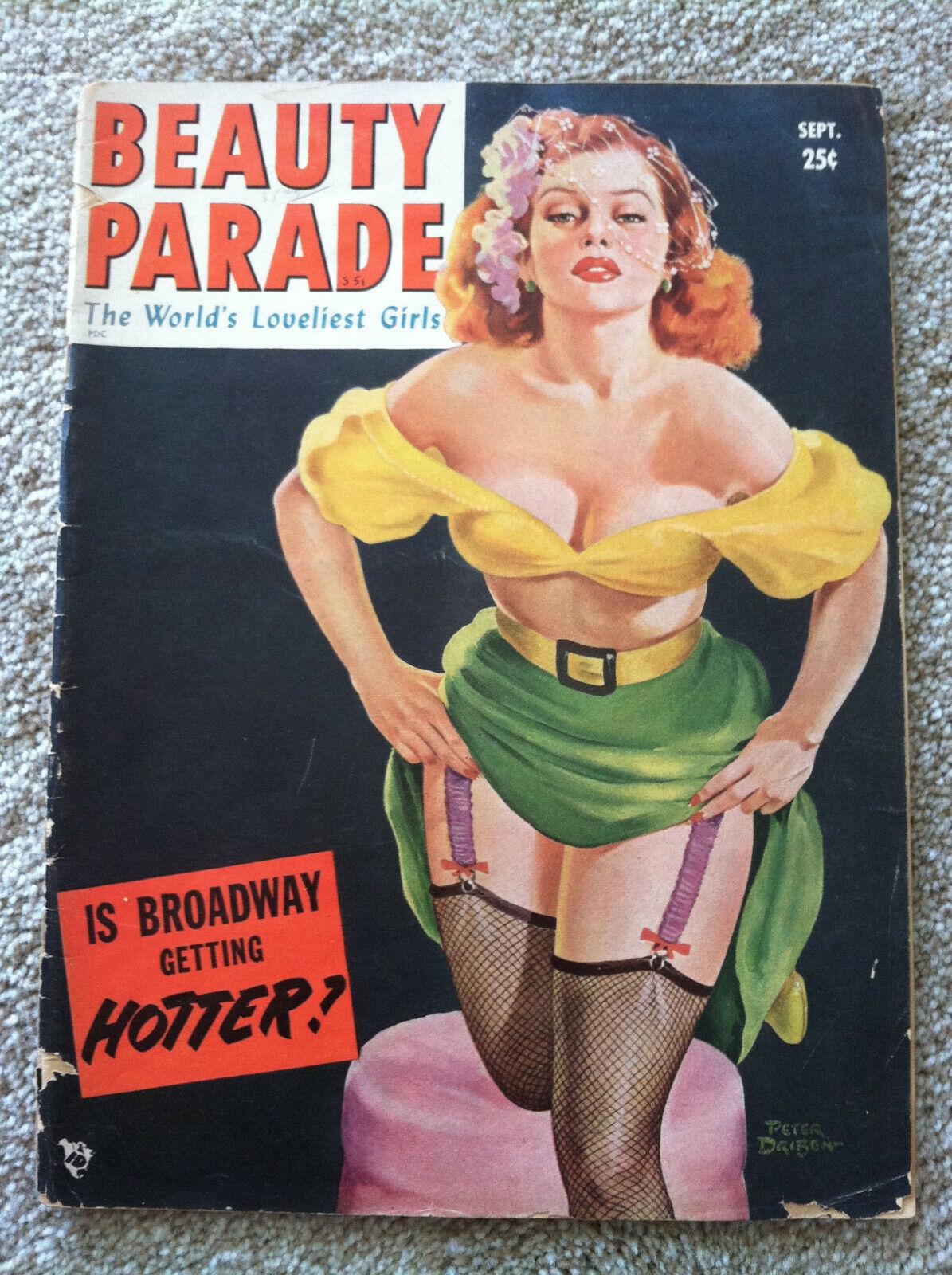Beauty Parade September 1951 V10 N4 - Men s / Pinup Magazine - Peter Driben GGA - $15.50