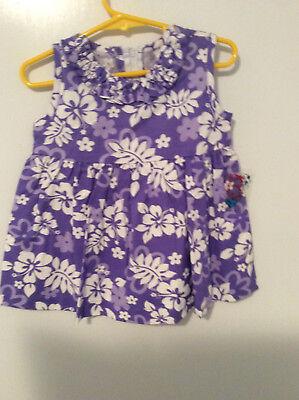 Toddler/Girls Hawaiian Hibiscus Print Sleeveless 100% Cotton - Toddler Hawaiian Dress