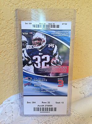 NEW ENGLAND PATRIOTS GAME TICKET OCTOBER 2, 2016 CHAMPIONSHIP SEASON
