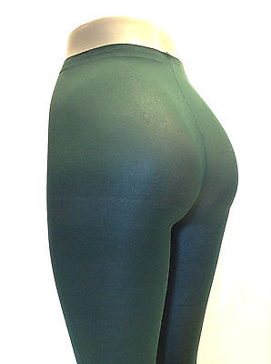 Music Legs 747 Tights Nylon Pantyhose Opaque Nylon Plus Size Queen Hunter Green
