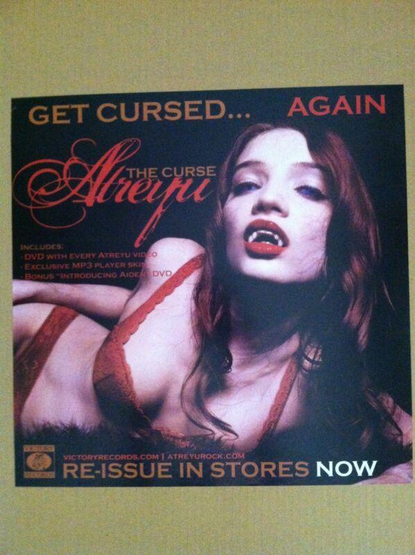 ATREYU 2005 Retail PROMO POSTER for the Curse REISSUE CD MINT USA 16 x 16