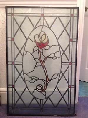 SWANSEA - PLATE GLASS Used - Decorative stained glass double glazed door panel