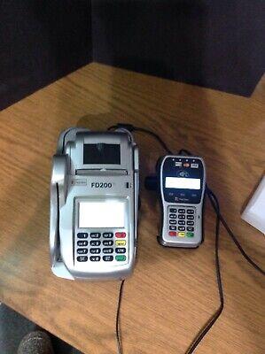 First Data Fd200 Ti Credit Card Terminal Check Reader W Fd-35 Pin Pad