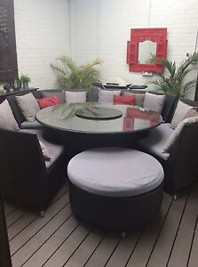 LARGE OUTDOOR DINING WICKER SETTING Edgewater Joondalup Area Preview