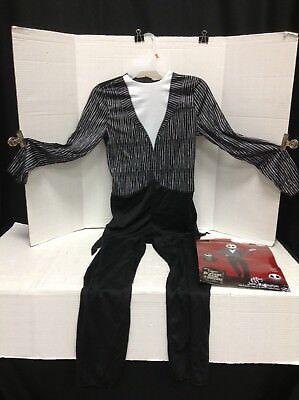 Halloween Before Christmas Costume ( Nightmare Before Christmas Jack Skellington Jumpsuit Halloween Costume Adult L)
