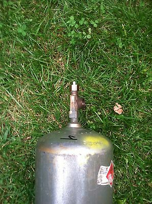 B (40CF) ACETYLENE WELDING GAS CYLINDER TANK BOTTLE Used